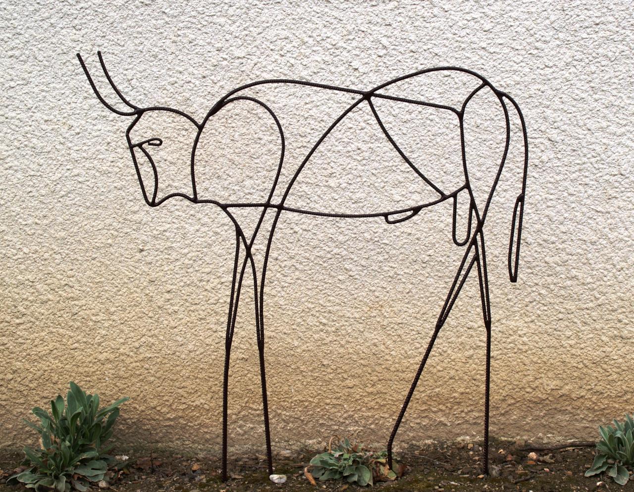 Taureau (picasso) à planter dans le jardin
