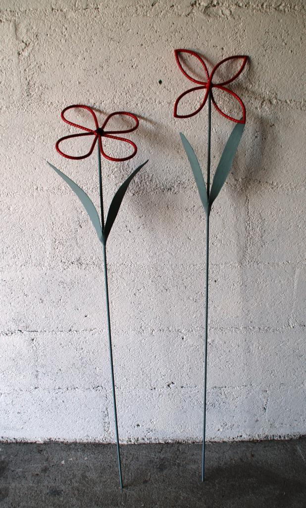 Fleurs en fer