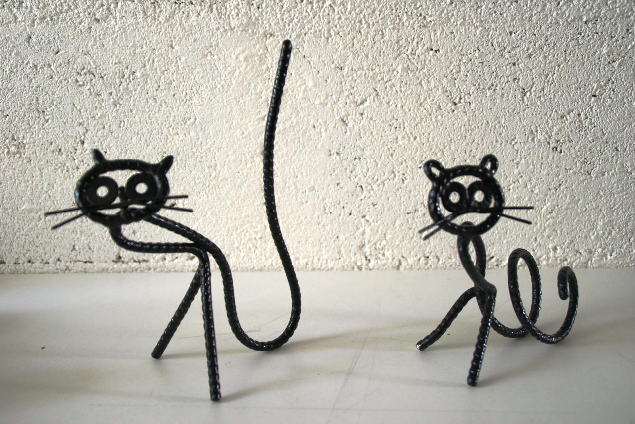 2 chats noirs