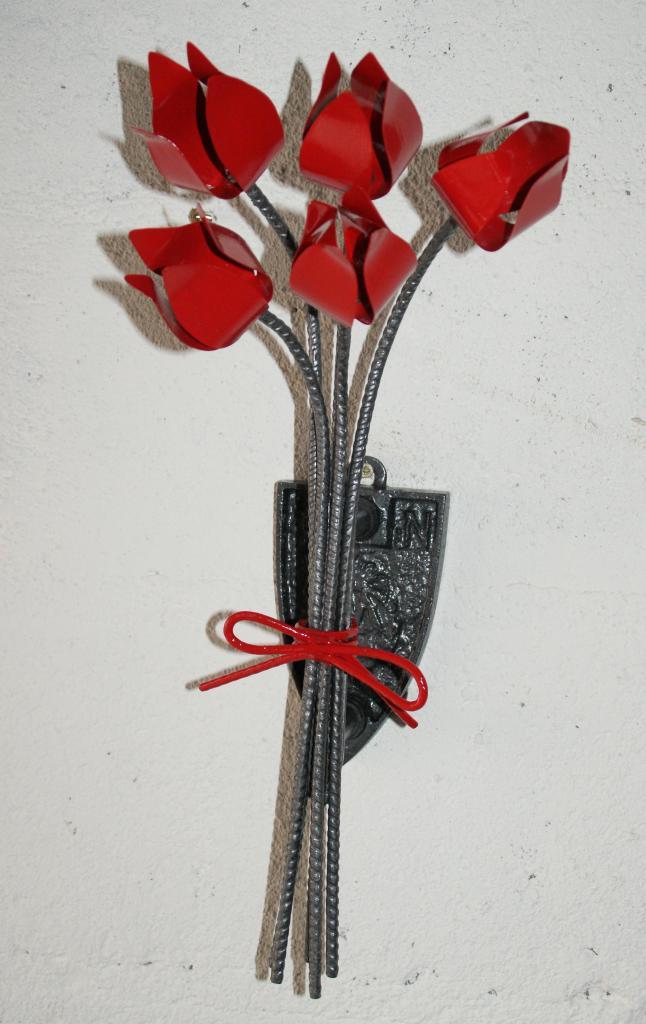 Bouquet monté sur vieux fer